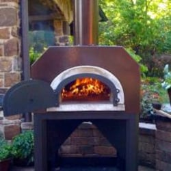 Chicago Brick Oven CBO-750 Outdoor Wood-Fired Pizza Oven - Copper image