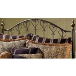 Hillsdale Huntley Dusty Bronze Metal Post Headboard Without Frame - Full/Queen - 1332HFQ image