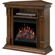 Dimplex Deerhurst 36-Inch Corner Electric Fireplace Media Console - Burnished Walnut - DFP20-1268BW