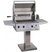 Solaire Gas Grills 27 Inch Deluxe InfraVection Propane Grill With One Infrared Burner And Rotisserie On Bolt Down Post