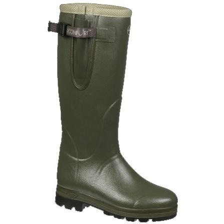Le Chameau Boots Ladies Vierzon Air Confort Hunting Rubber Boot - Olive Green - Size 7