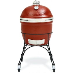 Kamado Joe Classic 18-Inch Freestanding Ceramic Grill With Stainless Bands
