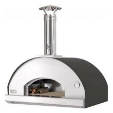Fontana Forni Forno Toscano Mangiafuoco 39-Inch Countertop Wood-Fired Pizza Oven - Black