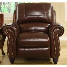 Abbyson Living Madison Leather Pushback Reclining Armchair - CH-8857-BRG-1