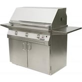 Solaire 42 Inch All Infrared Freestanding Propane Gas Grill With Rotisserie On Standard Cart - SOL-AGBQ-42CIR-LP