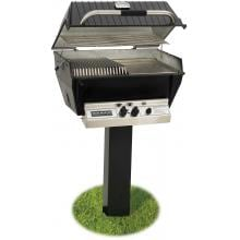 Broilmaster P3-SX Super Premium Propane Gas Grill On Black In-Ground Post Broilmaster P3-SX Super Premium Gas Grill On Black In-Ground Post