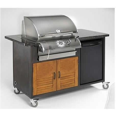 Rock N Roll Island W/ 24 Inch Legacy Cook Number Propane Gas Grill