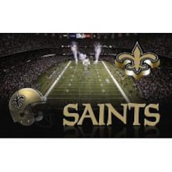 Team Sports America Sublimated Door Mat - New Orleans Saints image