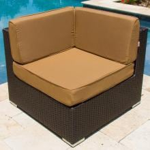 Avery Island Resin Wicker Corner Patio Sectional Chair By Lakeview Outdoor Designs Avery Island Resin Wicker Corner Patio Sectional Chair - Lifestyle View