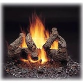 Majestic American Oak 24-Inch Vented Refractory Gas Log Set W/ Natural Gas Burner - Match Light