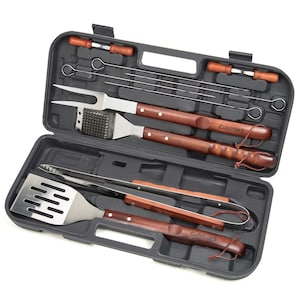 Cuisinart 13-Piece Wooden Handle Grill Tool Set - CGS-W13 image