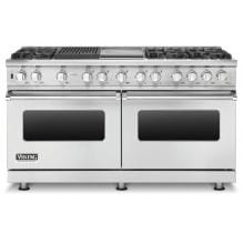 Viking Professional 5 Series 60-Inch 6-Burner Dual Fuel Natural Gas Self Cleaning Range With Griddle And Grill - Stainless Steel - VDSC5606GQSS image