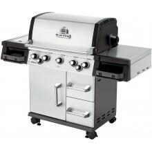 Broil King Imperial 590 5-Burner Freestanding Propane Gas Grill With Rotisserie & Side Burner - Stainless Steel Broil King Imperial 590 5-Burner Freestanding Gas Grill - Angled View