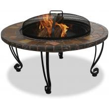 UniFlame Fire Pits 35 Inch Slate Fire Pit