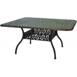 Darlee Series 60 60 X 60 Inch Cast Aluminum Patio Dining Table - Antique Bronze image