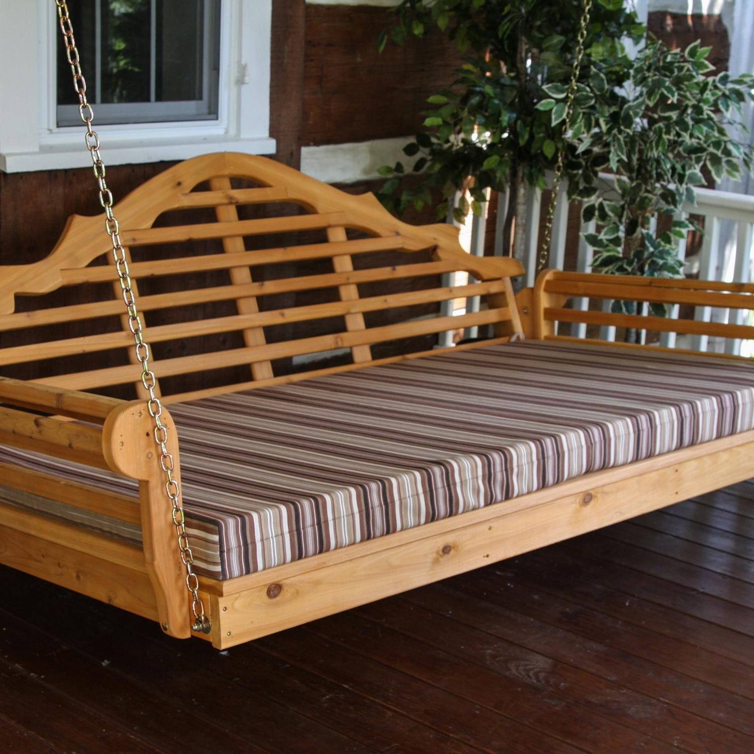 A&L Furniture Malboro 5 Foot Cedar Outdoor Swing Bed With...