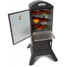 Broil King Smoke 28-Inch Vertical Charcoal Smoker - Black Broil King 28-Inch Smoke Vertical Charcoal Smoker - Door Open