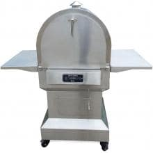 Smoke-N-Hot Stainless Steel Outdoor Pellet Pizza Oven Cooking Center Smoke-N-Hot Outdoor Cooking Center - Front View