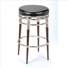 Hillsdale Salem 26 Inch Backless Swivel Counter Stool - Brushed Chrome - 4688-827 image