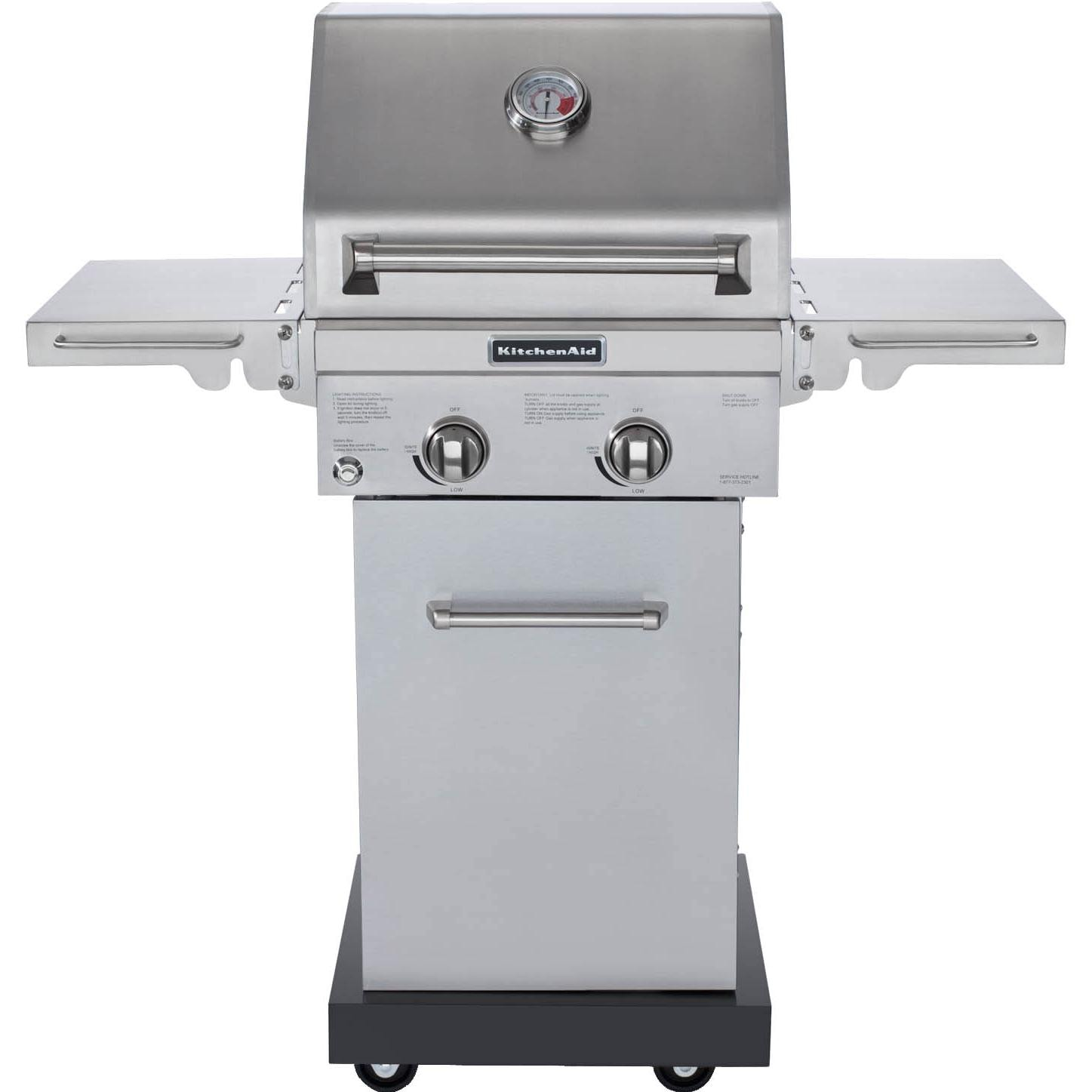 kitchenaid 20-inch propane gas grill on cart : bbq guys