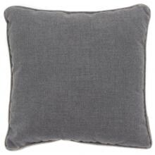 Sunbrella Cast Slate Outdoor Throw Pillow W/ Piping By Lakeview Outdoor Designs - 16 X 16 image