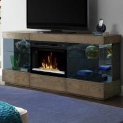 Dimplex Multi-Fire XD Axel 71-Inch Electric Fireplace Media Console - Acrylic Ice Embers - Raked Sand - GDS25GD-1583RS image