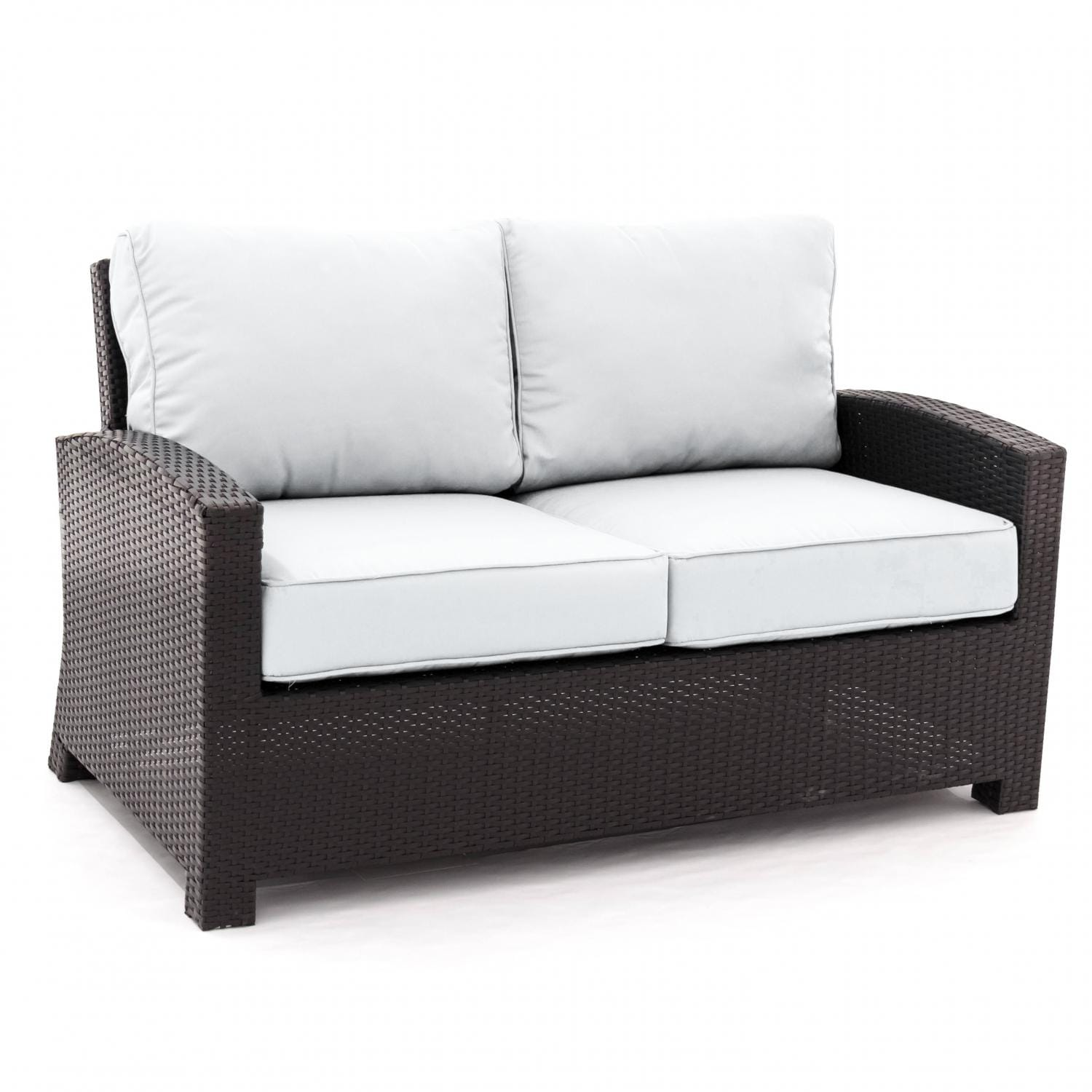 Eden Isle Resin Wicker Patio Loveseat By Lakeview Outdoor Designs Canvas Natural Ultimate Patio