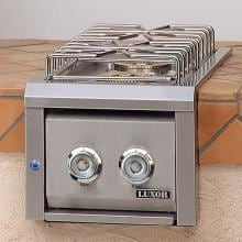 Luxor Built-In Natural Gas Double Side Burner W/ Front LED Lights - AHT-DSB-L-NG image