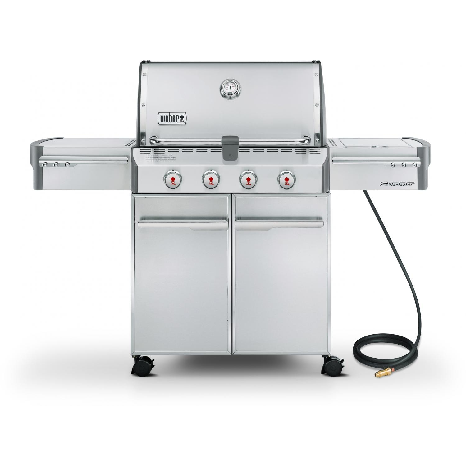 weber summit s 420 natural gas bbq grill on cart with side burner bbq guys. Black Bedroom Furniture Sets. Home Design Ideas