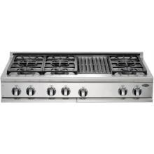 DCS Cooktops 48-Inch Natural Gas Cooktop With Grill By Fisher Paykel - CP-486GL