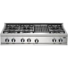 DCS Cooktops 48-Inch Natural Gas Cooktop With Grill By Fisher Paykel - CP-486GL DCS 48-Inch Gas Cooktop With Grill By Fisher Paykel - CP-486GL