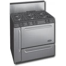 Premier Pro Series P36S328BP 3.9 Cu Ft 36 Inch Gas Range With Electronic Ignition And 6 Sealed Burners With 10 Inch Stainless Back-guard - Stainless Steel