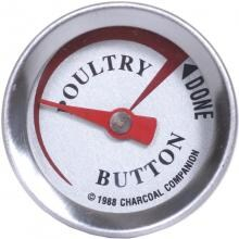 2-Inch Poultry Thermometer Button Charcoal Companion 2-Inch Poultry Thermometer Button - Front View