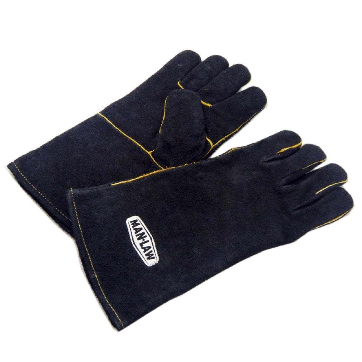 Man-Law Leather Set Of 2 BBQ Grill Gloves