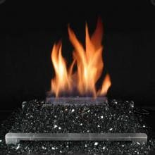Rasmussen 20-Inch Black ALTERNA See-Thru FireGlitter Set With Vent Free Natural Gas Stainless Steel Chassis Burner - Variable Flame Remote image