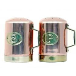 Old Dutch Copper Salt And Pepper Shakers - 4.25 Inch image