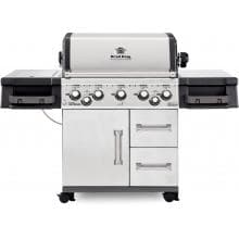Broil King Imperial 590 5-Burner Freestanding Propane Gas Grill With Rotisserie & Side Burner - Stainless Steel Broil King Imperial 590 5-Burner Freestanding Propane Gas Grill With Rotisserie & Side Burner