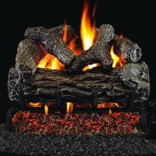 Peterson Real Fyre 16-Inch Golden Oak Gas Log Set With Vented G4 Burner - Match Light Peterson Real Fyre 16-Inch Golden Oak Gas Log Set With Vented G4 Burner
