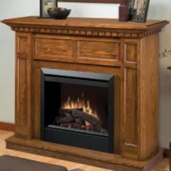 Dimplex Caprice 48-Inch Electric Fireplace Mantel - Standard Logs - Oak - DFP4743O image