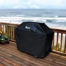 Medium Heavy Duty Polyester Vinyl Innerflow Grill Cover - 54 W X 28 D X 44 H Medium Heavy Duty Polyester Vinyl Innerflow Grill Cover - On the Deck