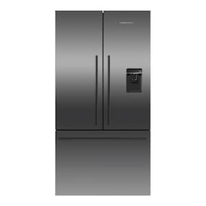 Fisher Paykel ActiveSmart 20.1 Cu. Ft. French Door Refrigerator With Water Dispenser - Black Stainless Steel - RF201ADUSB5 image