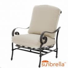 Elysian Aluminum Patio Motion Club Chair W/ Sunbrella Canvas Antique Beige Cushion By Lakeview Outdoor Designs image