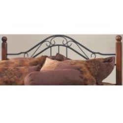 Hillsdale Madison Textured Black And Cherry Metal And Wood Post Headboard With Frame - Twin - 1010HTWR image