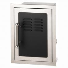 Fire Magic Echelon Black Diamond 14-Inch Right-Hinged Louvered Single Access Door W/ Propane Tank Storage & Soft Close - 53820HSC-TR image