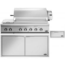 DCS 3-Piece 48-Inch Natural Gas Outdoor Kitchen Package DCS 48-Inch Grill with Side Burner 3-Piece Bundle