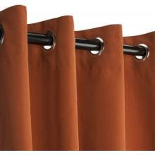 Sunbrella Outdoor Curtain With Grommets By Hatteras Outdoors - 52 1/2 X 84 Inch - Rust