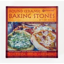 8-inch Mini Round Pizza Stones - Set Of 4 4 Piece Mini Round Pizza Stones Packaging