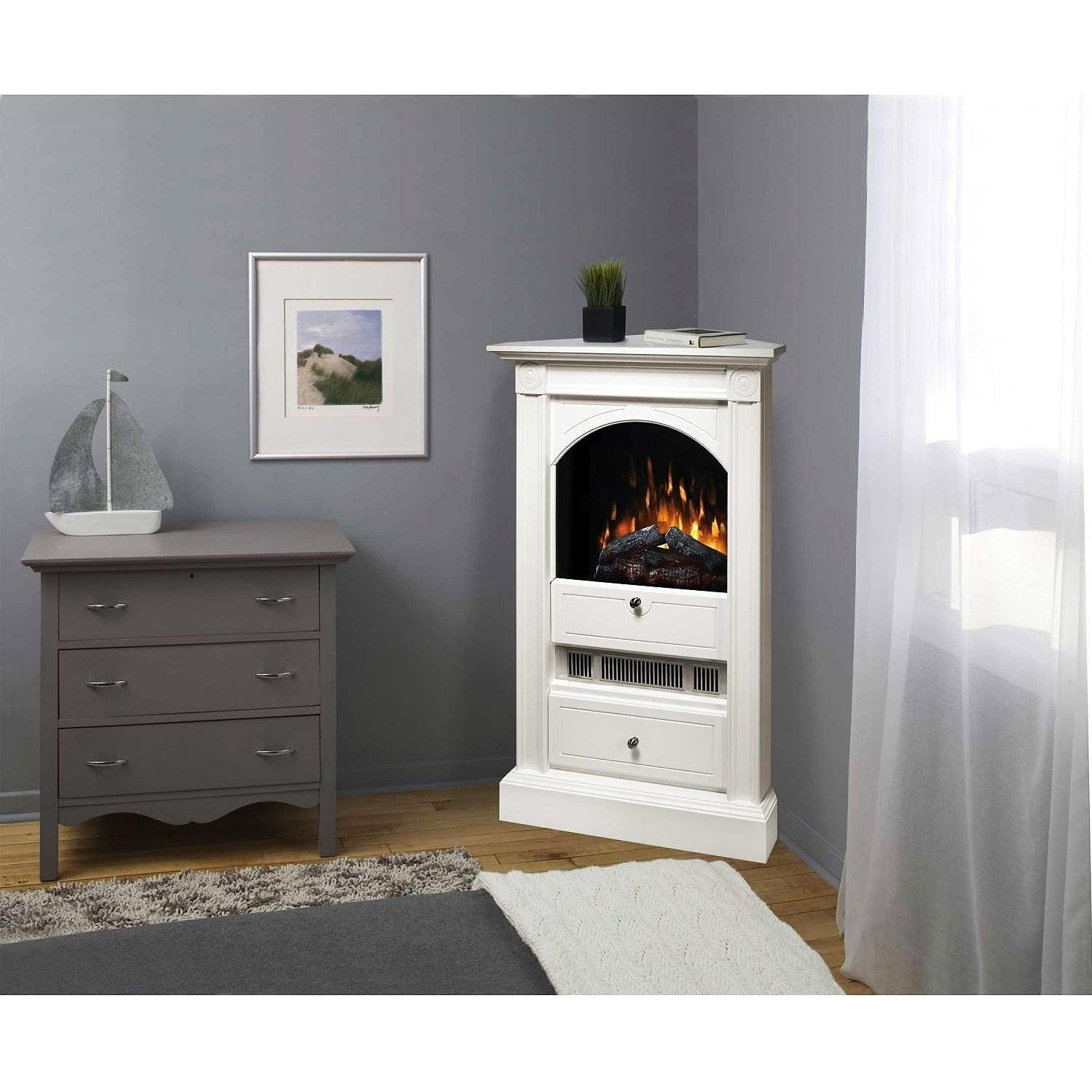 Dimplex Dcf7850w 30 Inch Chelsea Corner Electric Fireplace