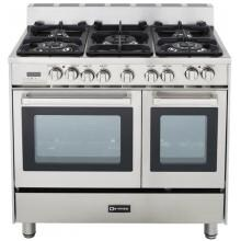 Verona VEFSGE365DSS 36-Inch Double Oven Dual Fuel Range - Stainless Steel