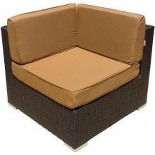 Avery Island Resin Wicker Corner Patio Sectional Chair By Lakeview Outdoor Designs